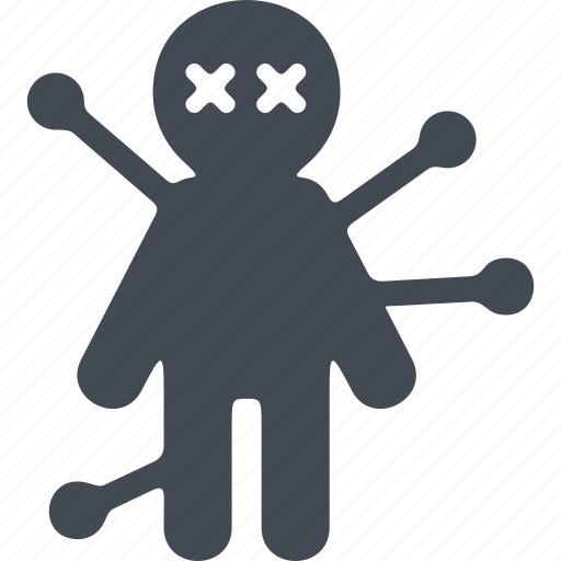 halloween, horror, scary, voodoo doll icon