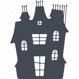 bring, castle, halloween, scary, spooky icon