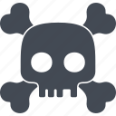 bones, evil, halloween, scary, skull icon