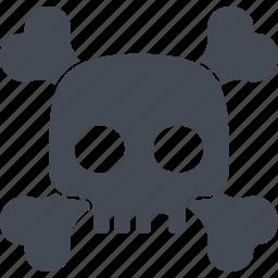 bones, evil, halloween, scary, skull icon