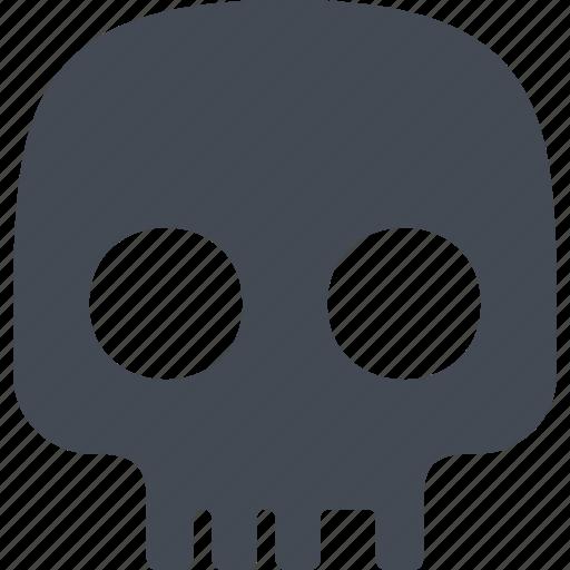 brainpan, cranium, evil, halloween icon