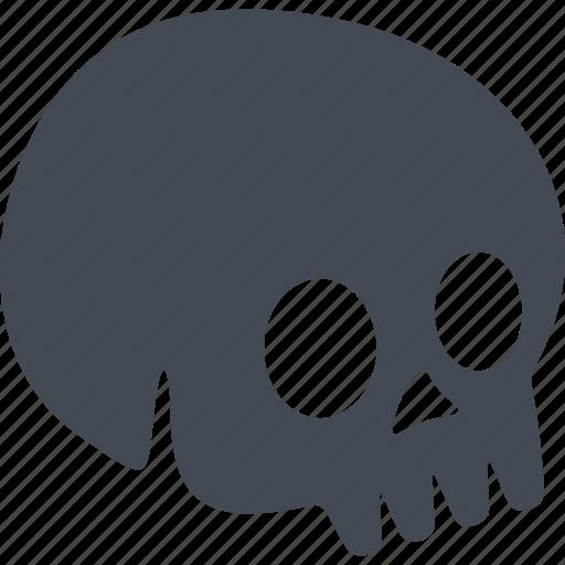 brainpan, halloween, scary, skull icon