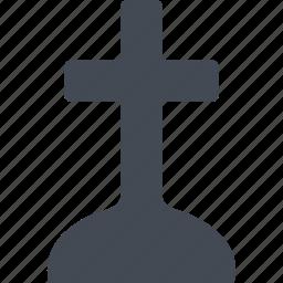 cross, entombment, halloween, tomb icon