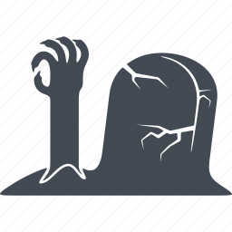burial, halloween, horror, scary, spooky icon
