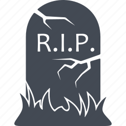 burial, halloween, headstone, tomb icon
