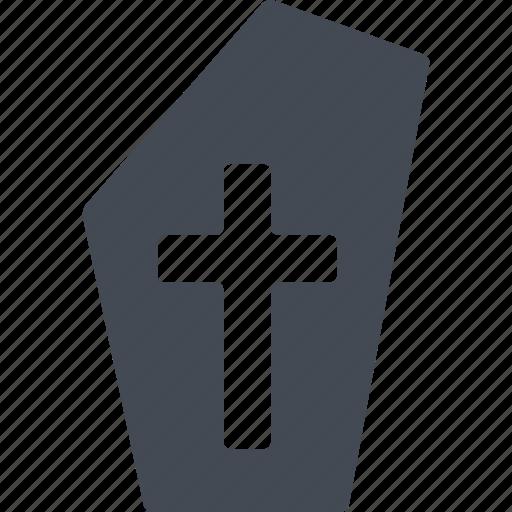 cemetery, cross, halloween, headstone icon