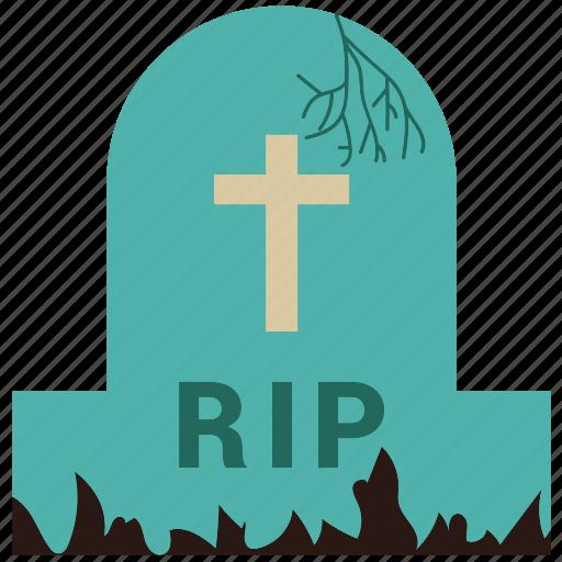 cemetery, grave, halloween, rip icon
