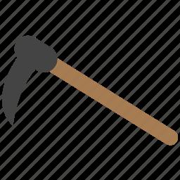 halloween, scythe, tool icon