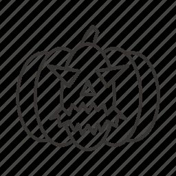 evil, halloween, horror, pumpkin, scary, spooky icon