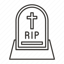 evil, grave, halloween, horror, rip, scary, spooky icon