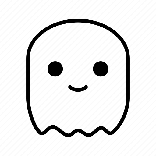 Ghost, cute, halloween, avatar icon