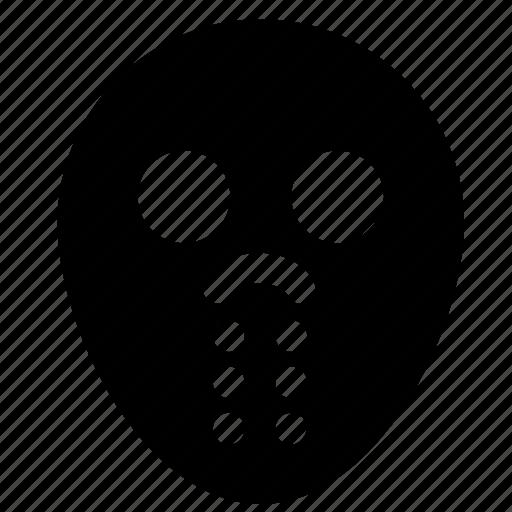 halloween, head, jason, killer, maniac, mask, monster icon