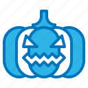 decoration, halloween, head, lighting, pumpkin icon
