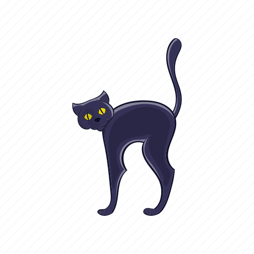 animal, cartoon, cat, cute, halloween, kitty, pet icon