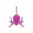 arachnid, art, cartoon, danger, design, halloween, spider icon