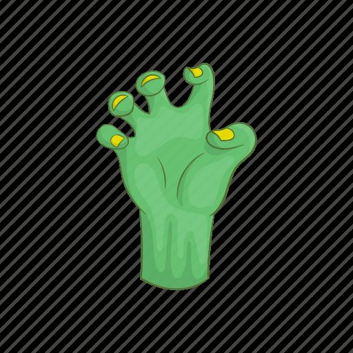 Cartoon, corpse, creepy, dark, dead, green, hand icon - Download on Iconfinder
