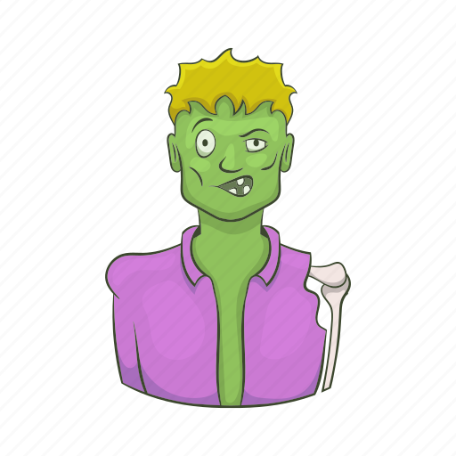 Cartoon, corpse, dead, monster, scary, walking, zombie icon - Download on Iconfinder
