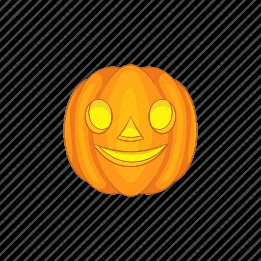 Cartoon, face, halloween, holiday, lantern, pumpkin, smile icon - Download on Iconfinder