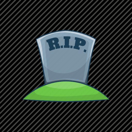 cartoon, cross, death, grave, halloween, rip, tomb icon