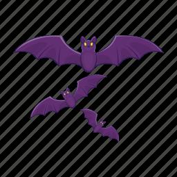 bat, cartoon, halloween, night, spooky, vampire icon