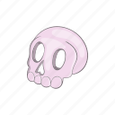 cartoon, evil, halloween, head, horror, scary, skull icon