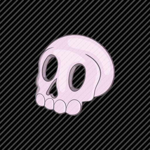 cartoon, evil, halloween, head, horror, scary, skull icon