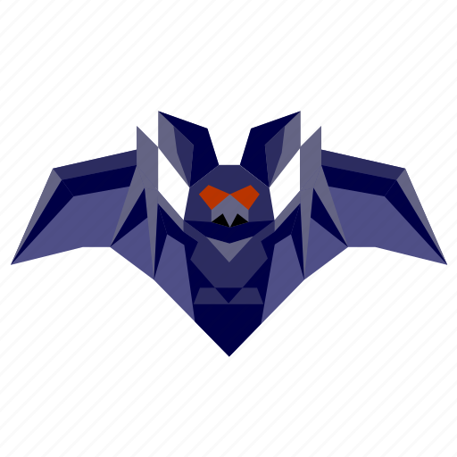 animal, bat, halloween, holiday, low-poly, scary, spooky icon