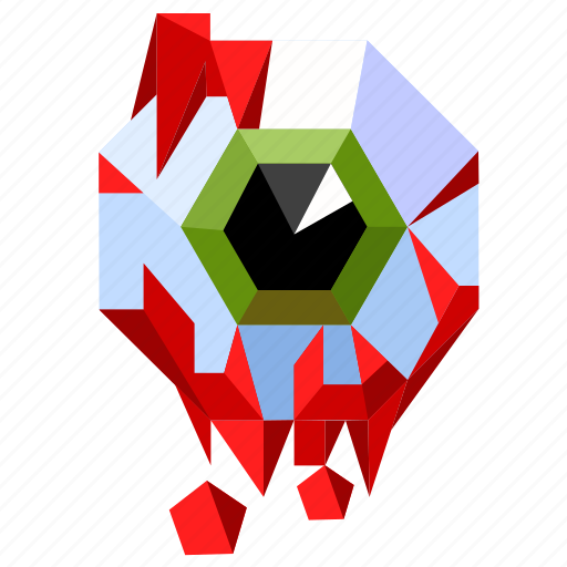 blood, eye, halloween, holiday, low-poly, scary, spooky icon