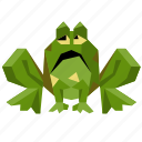animal, character, frog, halloween, low-poly, sad icon