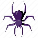 halloween, holiday, insect, low-poly, scary, spider, spooky icon