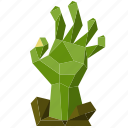 halloween, hand, holiday, low-poly, scary, spooky, zombie
