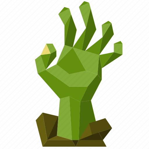halloween, hand, holiday, low-poly, scary, spooky, zombie icon