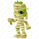 halloween, holiday, low-poly, mummy, scary, spooky, zombie