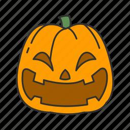 halloween, pumpkin, squash, trick or treat icon