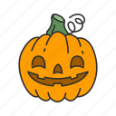 halloween, pumpkin, squash, trick or treat icon