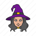 enchantress, magician, witch, witch's hat icon