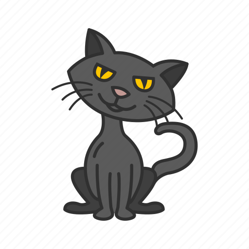 Bad luck, black cat, cat, halloween icon - Download on Iconfinder