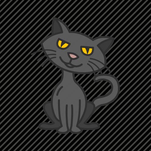 bad luck, black cat, cat, halloween icon