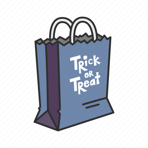 bag, halloween, trick or treat, trick or treat bag icon