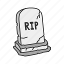 dead person, halloween, rest in peace, rip icon