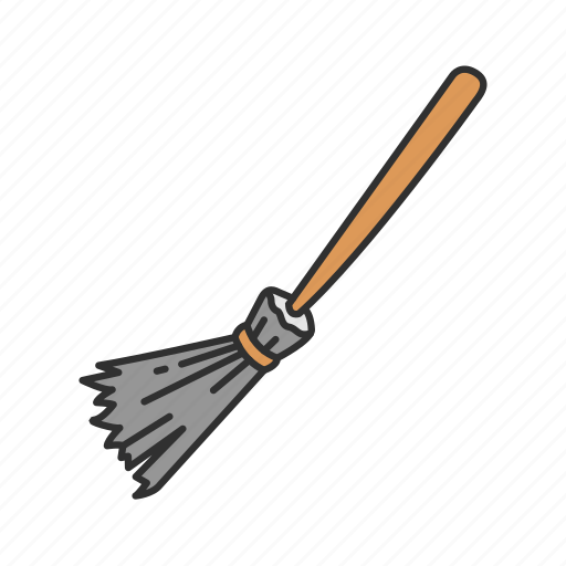 black magic, broom, broomstick, witch, witch's stick icon