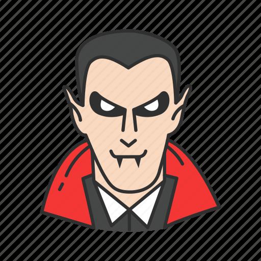 dracula, horror, monster, vampire icon
