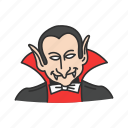 dracula, horror, monster, vampire icon