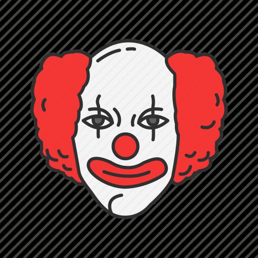 clown, joker, killer, monster icon