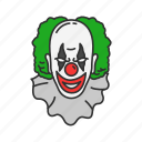 clown, joker, killer, monster icon