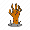 dead, hand, horror, monster icon