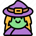 avatar, costume, halloween, october, witch icon