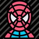 avatar, boy, costume, halloween, october, spider icon
