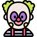 avatar, clown, costume, halloween, october icon