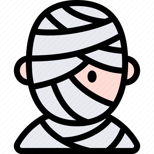 avatar, costume, halloween, mummy, october icon